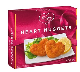 Nuggets de pui in forma de inima